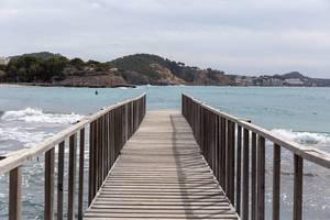 Bootssteg in Peguera, Mallorca