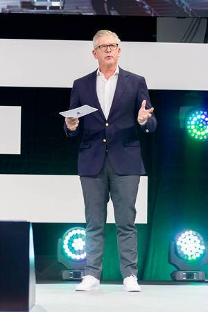 Börje Ekholm as the CEO of Ericsson on stage at DigitalX