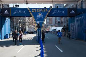 Boston Marathon Finish Line (Ziellinie)