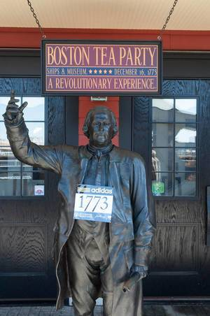 Boston Tea Party during Boston Marathon