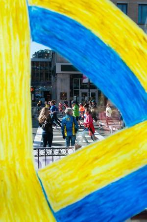 BostonStrong: Painting of Starbucks at Boston Marathon