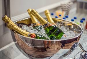 Bowl Of Champagne with Ice