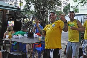Brasilianische Fans bei der WM 2014 in Brasilien