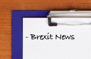Brexit News text on clipboard