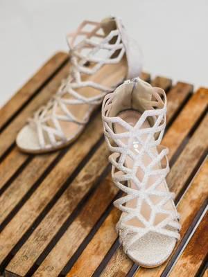 Bridal Sandals on Wooden Table  Flip 2019