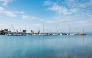 Bright Balaton lake water