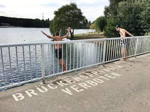 Brückenspringen verboten