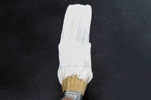 Brush in white paint large background. The concept of repair (Flip 2019)