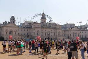 Buckingham Palace and London Eye in the background, London