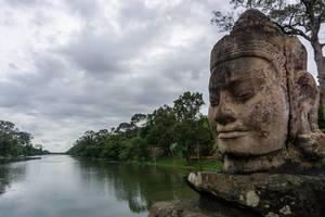 Buddha Kopf in Angkor Thom, Kambodscha
