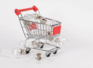 Bulbs in shopping cart