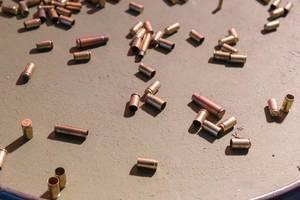 Bullet casings on the floor