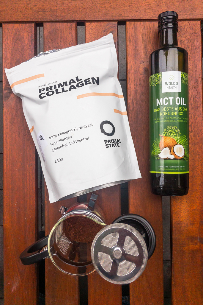Bullet Proof Coffee with MCT Oil and French Press System