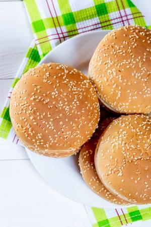 Bun for cooking burgers