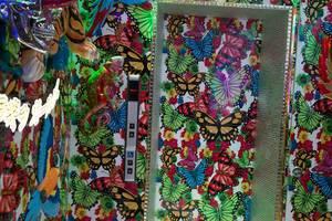 Bunte Schmetterling-Tapeten im Aufzug
