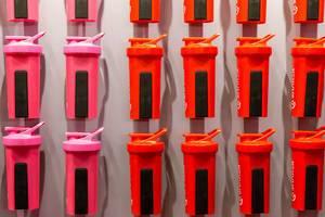 Bunte Sportflaschen von Shaker