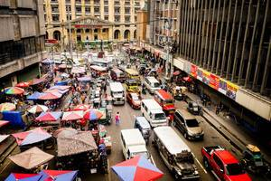 Busy Street in Manila