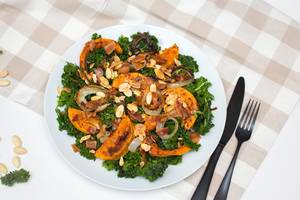 Butternut Salad with Kale and Almond   Flip 2019