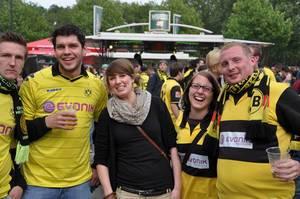 BVB Fans bei Meisterfeier