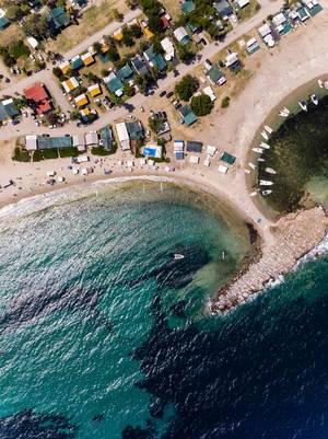 Campingplatz Camping Paliouri mit eigenem Strand und kleinen Hafen