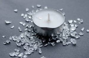 Candle with stones, decoration