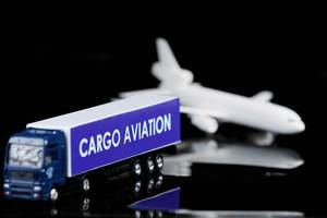 Cargo aviation truck and model airplane
