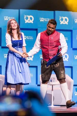 Carice van Houten und Daniel Ramamoorthy