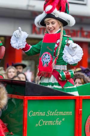Carina Stelzmann im Pferdewagen der Altstädter Köln 1922 - Kölner Karneval 2018