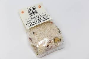 Casale Paradiso Risotto Mediterraneo-Fertigmischung, in Plastikverpackung, vor weißem Hintergrund