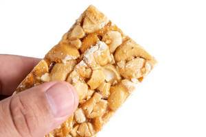 Cashew Bar in the hand
