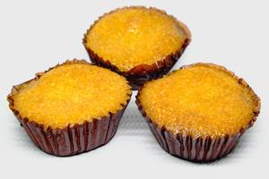 Cassava cupcakes on white background