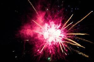 Celebration with colorful fireworks (Feuerwerk)