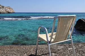 Chair by the sea