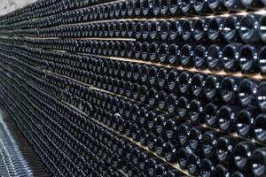 Champagner-Lagerung in einer Kellerei