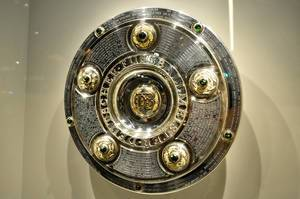 Championship Cup of German Soccer League in a showcase
