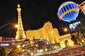 Chateau Nightclub and Rooftop Las Vegas mit der Nachbildung des Eiffelturms