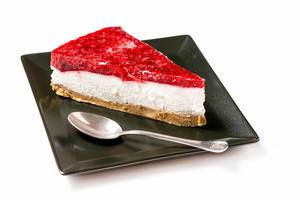 Cheesecake with Raspberry cream