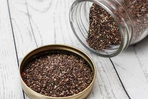 Chia Seed in a Jar Close-Up