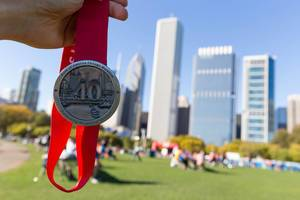 Chicago Marathon 2017 medal - Celebrating 40 years of finishers
