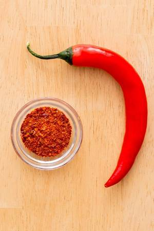 Chilli Peppers with Chilli Powder