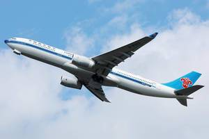 China Southern Flugzeug fliegt in der Luft