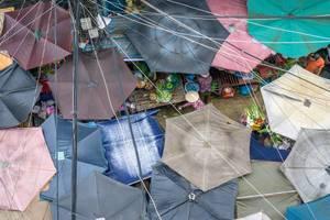 Chinatown Markt aus der Vogelperspektive in Ho Chi Minh City