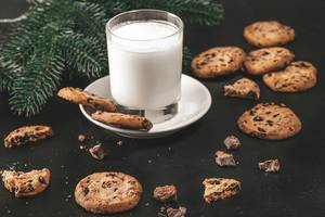 Chocolate chip cookies and milk for Santa (Flip 2019)