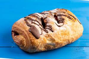Chocolate Croissant with Chocolate Topping