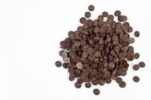 Chocolate Drops decoration on the white background