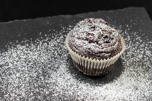 Chocolate Muffin cookie with powdered sugar
