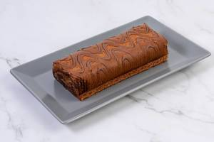 Chocolate Roll Cake on the plate (Flip 2019)