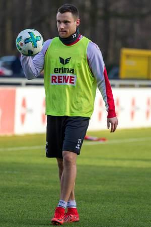 Christian Clemens beim Training am 30.01.2018
