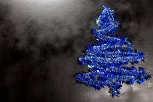 Christmas background with blue christmas tree