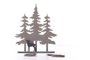 Christmas Decoration Deer in a Forest on white Background